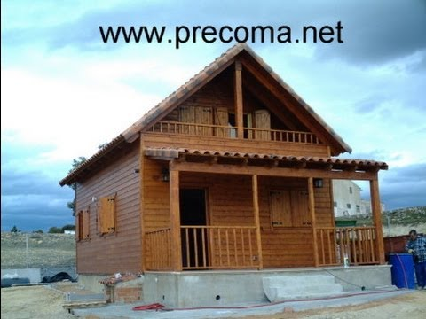 Construccion casa de madera youtube for Casas de estructura de madera