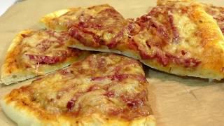 ДОМАШНЯЯ ПИЦЦА/ ТЕСТО ДЛЯ ПИЦЦЫ/ РЕЦЕПТ ПИЦЦЫ 👍homemade pizza