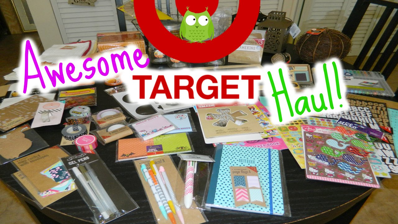 Awesome Target Haul Fall Decor Organization Planner