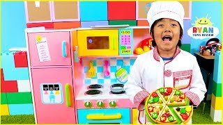 Ryan Pretend Play Cooking with Kitchen Playset and Cash Register