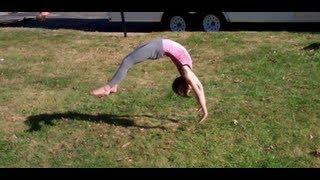 7 and 9 Year Old Gymnastics Tumbling!