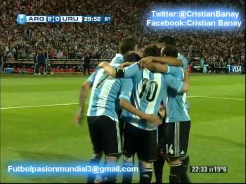 Argentina 3 Uruguay 0 (Relato Mariano Closs)  Eliminatorias Rumbo a Brasil 2014 (12//10/2012)