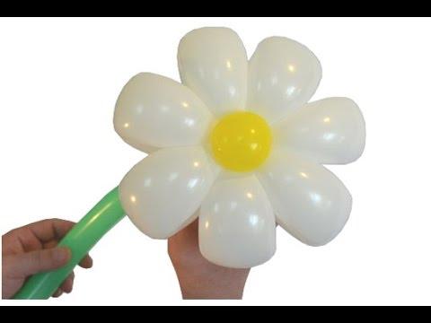 Как сделать ромашку с шариковым