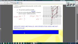 quadrilaterals on the coordinate plane