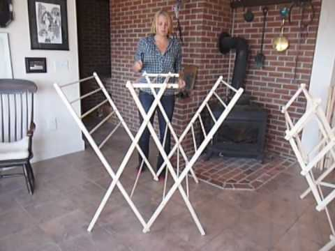 Diy folding wooden clothes drying rack plans plans free for Wooden clothes drying rack plans