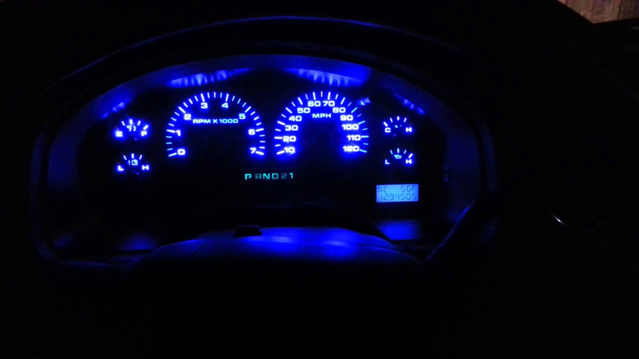 2005 ford f150 instrument cluster led conversion youtube. Black Bedroom Furniture Sets. Home Design Ideas