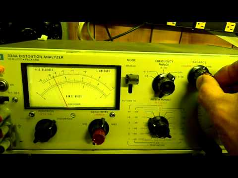 Hewlett Packard HP 334A Distortion Analyzer 2 of 2.MOV