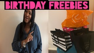Birthday Freebies|How to get free stuff for your birthday|