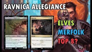 (11) MTG Ravnica Allegiance Spoilers!  Elves & Merfolk Top 8?