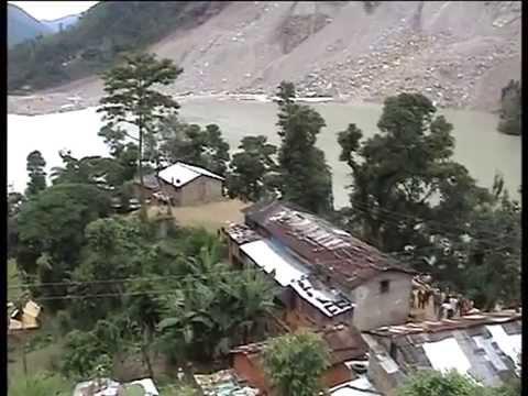 Landslide area after disaster - Sindhupalchowk