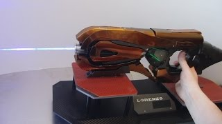 Selfmade Halo Concussion Rifle (holding a high power laser burning stuff)
