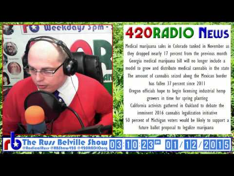 The Russ Belville Show #520 420RADIO News - MedMJ Sales in Colorado Down 17 Percent