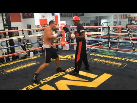 Floyd Mayweather & Chris Eubank Jr - World's Fastest Pad-Work (2014)