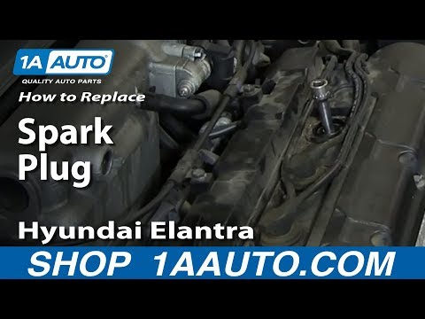 How To Replace Change Install Spark Plugs 2001-06 Hyundai Elantra 2.0L