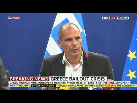 Greek Finance Minister Welcomes New Bailout Deal