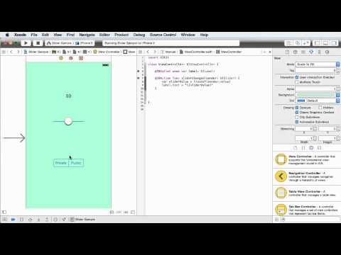 iOS Development with Swift Tutorial - 16 - Segmented Control