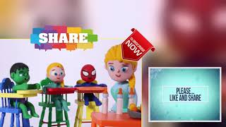 FUNNY KIDS PLAY WITH DOLLS ❤ Play Doh Cartoons For Kids