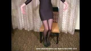 Aubrey Star black sheer pantyhose tights