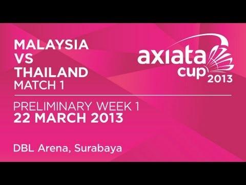 Round 1 - WS - Tee Jing Yi (MAS) vs Ratchanok Intanon (THA) - Axiata Cup 2013