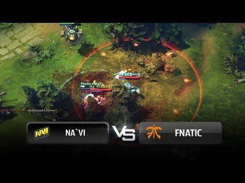 Na`Vi teamfight vs Fnatic @ Quarterfinals - RaidCall EMS One