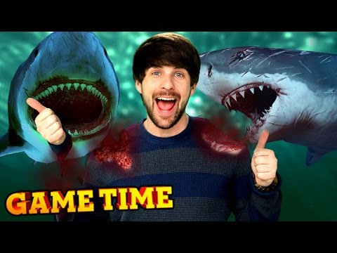 We're Shark Food In Depth (gametime W  Smosh Games) video