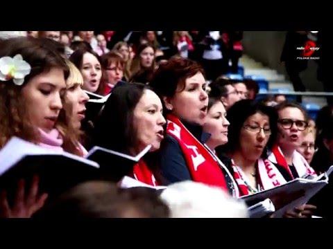 Poznań, Stadion. Obchody 1050. Rocznicy Chrztu Polski