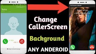 How to set full screen wallpaper in caller sceen||Set full screen wallpaper||