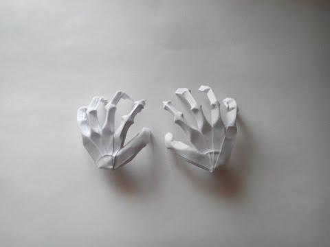 Как сделать из бумаги руку