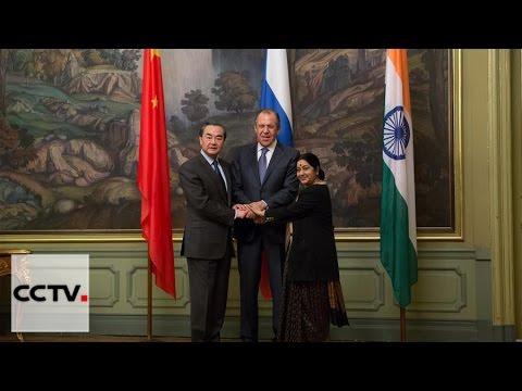 Wang Yi hails more cooperation between China, Russia and India