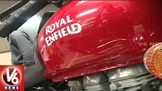 Huge Demand For Royal Enfield Bikes In Hyderabad City In This Festive Season | V6 News