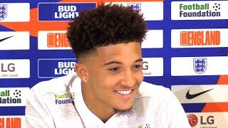Jadon Sancho Press Conference Ahead Of England's Upcoming Matches Against Croatia & Spain