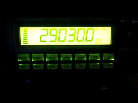 K1KW heard on 10m AM with a Ranger 2950DX - 1435 GMT - 5th November 2011