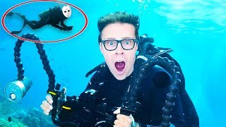 Searching for UNDERWATER TREASURE Box & Escaping GAME MASTER Drone (Secret Plans in Real Life)