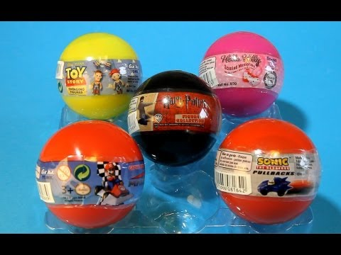 Harry Potter SONIC Hello Kity Mariokart Toy Story Gacha Box Tomy Eggs - Unboxing Video