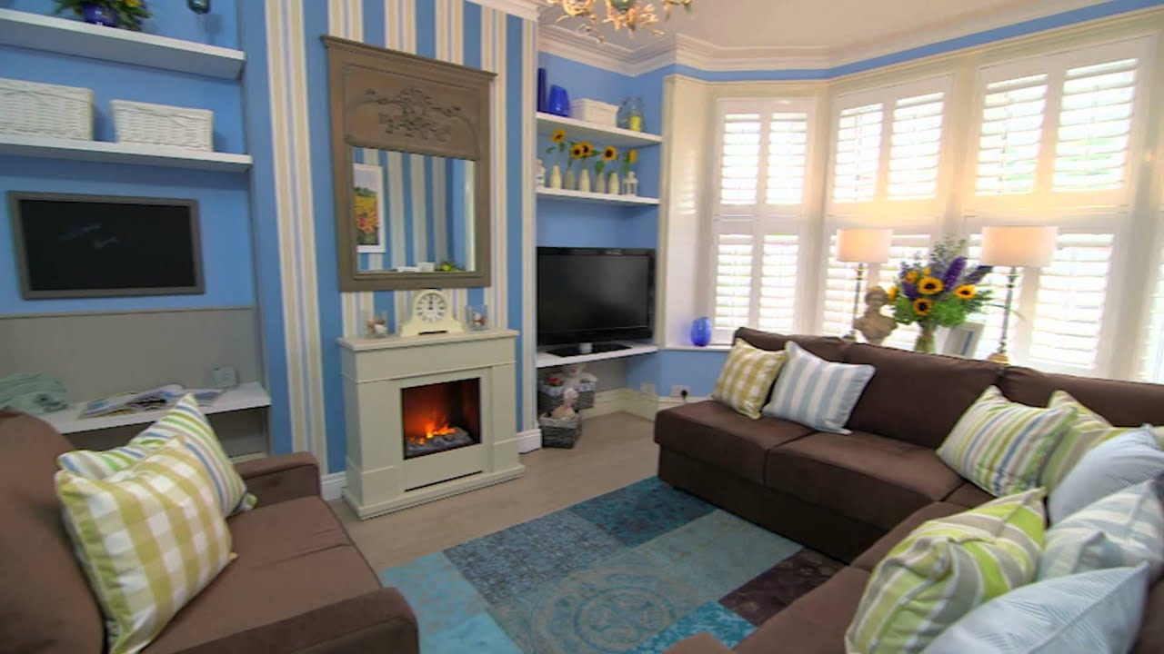 The final look of elaine 39 s stunning new living room for 60 minute makeover living room designs