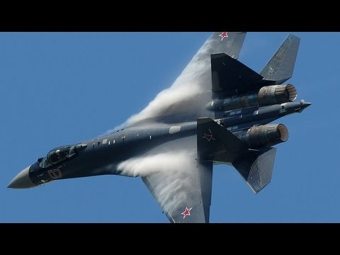 Paris Air Show 2013 - Su-35 vertical take-off + Air Show (HD)