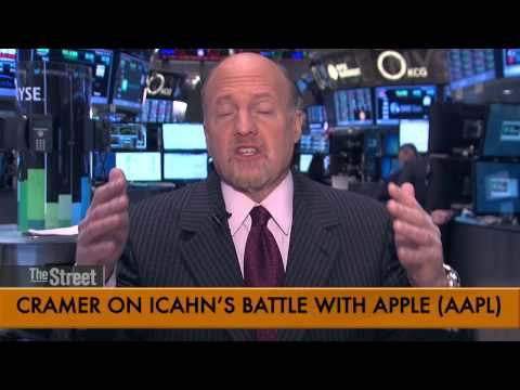 Jim Cramer Says Don't Sweat Icahn Backing Down on Apple