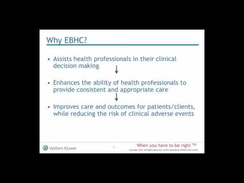 Why is Evidence Based Health Care Important