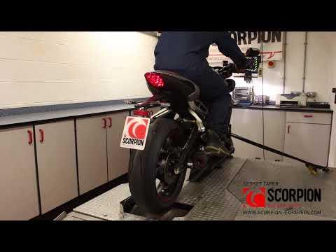 Triumph Street Triple 765 OEM vs Serket Taper & RP-1GP Performance Exhaust