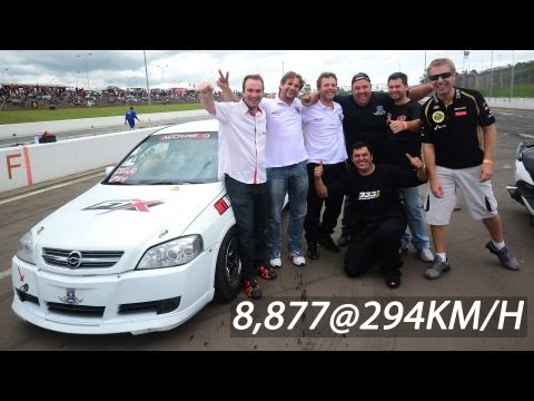 Astra Turbo  0 a 294KM/H em  8.7s - Velopark - 402m