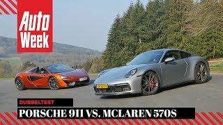 Porsche 911 Carrera 4S vs McLaren 570S - AutoWeek Dubbeltest - English subtitles