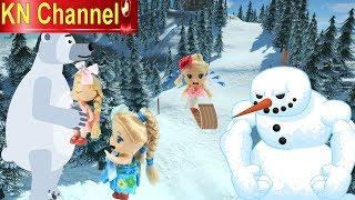 Đồ chơi trẻ em BÚP BÊ KN Channel TRƯỢT TUYẾT GẶP LỐC XOÁY CUỐN BAY LÊN TRỜI