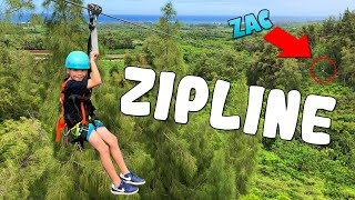 Who Was Too Scared to Zip Line in Hawaii??