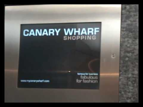 Tour of Lifts at canary wharf shopping centres