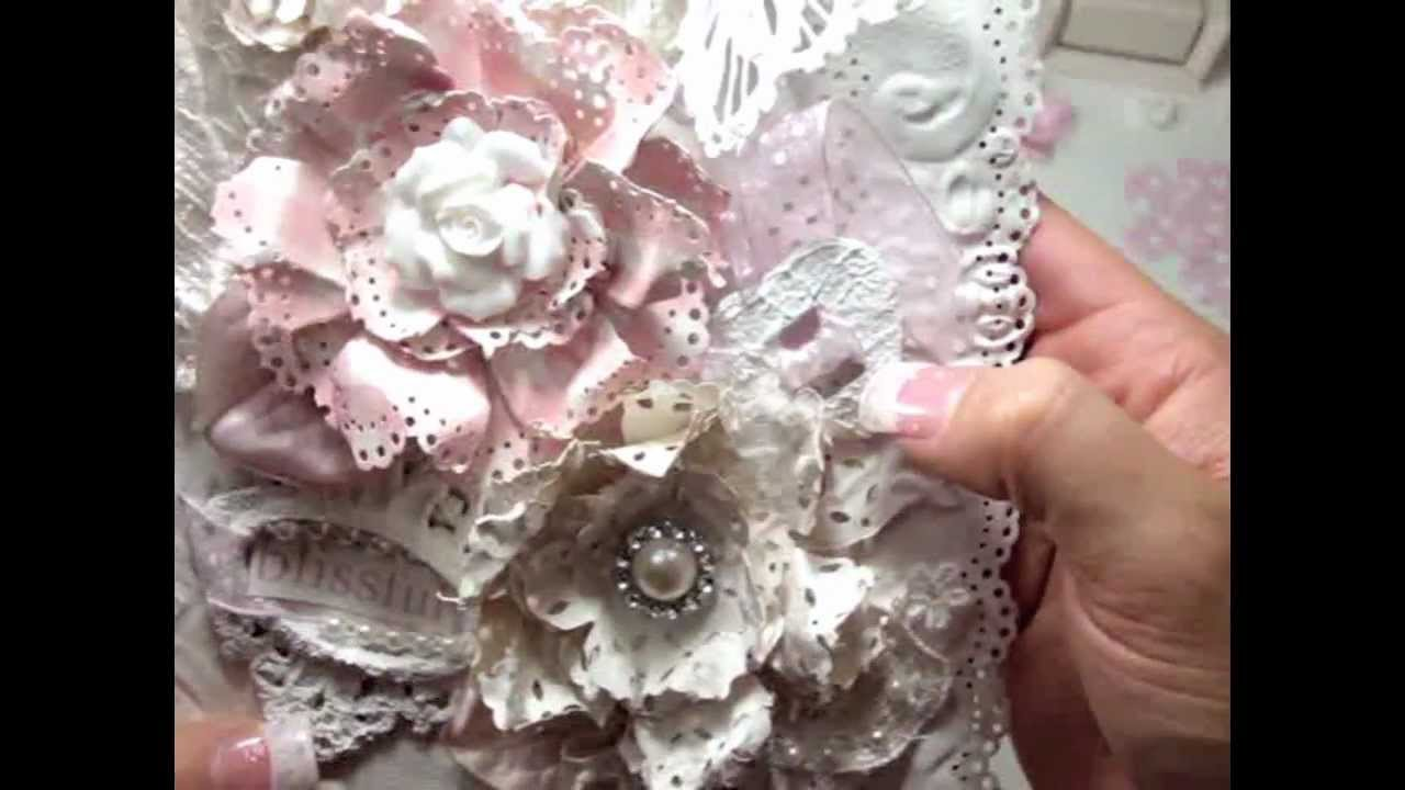 How to make flowers out of paper doilies how to make paper doily tutorial doily paper flower youtube mightylinksfo