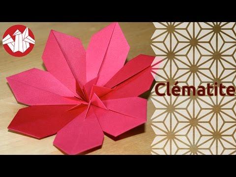 Origami cl matite clematis senbazuru youtube - Youtube origami fleur ...