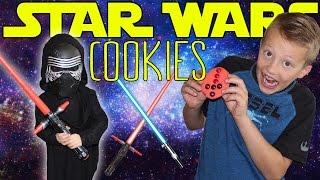 Kid Size Cooking: Star Wars Kylo Ren Cookies