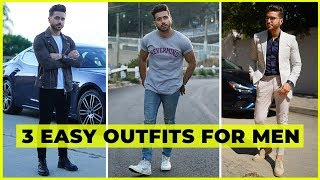 3 Easy Outfits ANY GUY Can Wear | Men's Fashion Lookbook ft. Maserati Ghibli S | Alex Costa