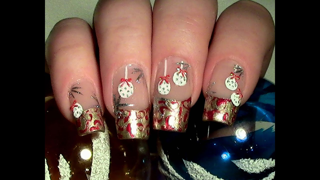 weihnachtliches christbaumkugel nageldesign selber machen christmas nail design youtube. Black Bedroom Furniture Sets. Home Design Ideas