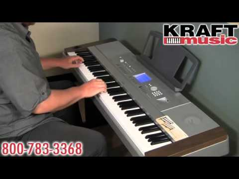 Kraft Music - Yamaha DGX-640 Digital Piano Demo